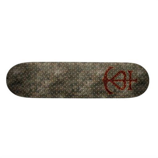 Faith Hope Charity Metal Grunge Skateboard