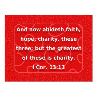 Faith, Hope, Charity... Postcard