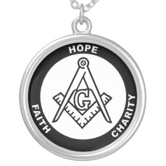 FAITH HOPE CHARITY SILVER PLATED NECKLACE