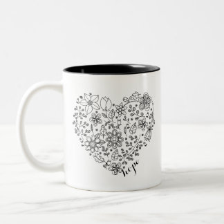 Faith & Hope Floral Heart Mug