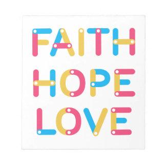 faith hope love 2 notepad