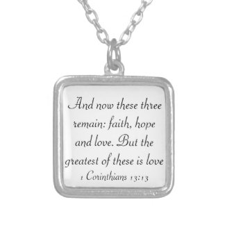 faith hope love bible verse 1 corinthians necklace