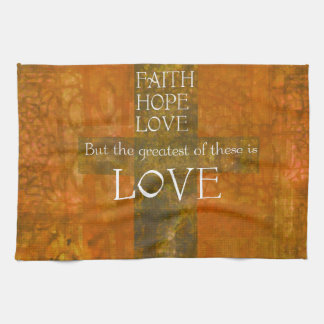 Faith Hope Love Bible Verse Kitchen Towel