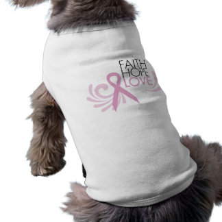 Faith, Hope, Love - Breast Cancer Support Pet Tee