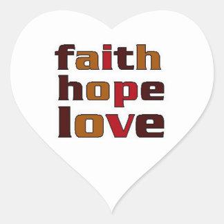 Faith Hope Love Browns Heart Sticker