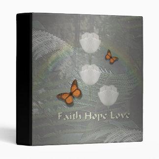 Faith Hope Love ~ Butterfly Tulips Vinyl Binders