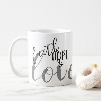 faith, hope & love coffee mug