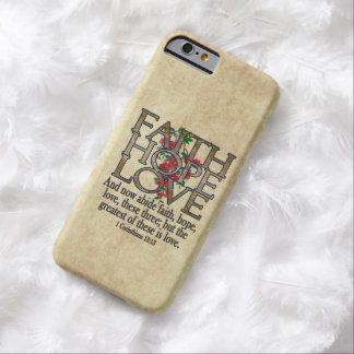 Faith Hope Love Elegant Bible Scripture Christian Barely There iPhone 6 Case