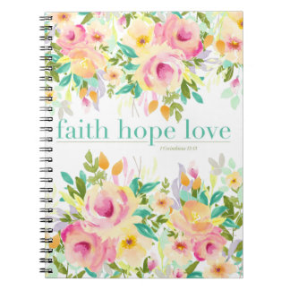 Faith Hope Love | Floral Notebook (80 pages)