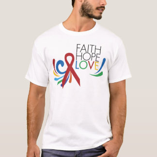 Faith, Hope, Love - Gay Lesbian Awareness T-Shirt