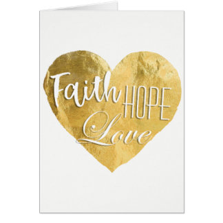 Faith, Hope, Love, Gold Foil Card