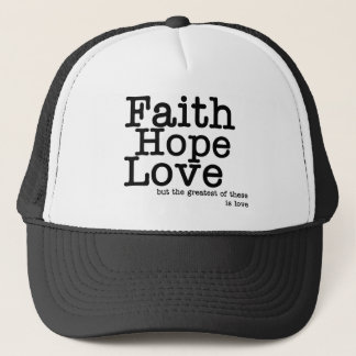 Faith Hope Love Hat