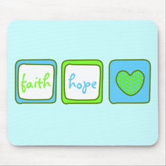 Faith Hope Love Heart 1 Corinthians 13:13 Mouse Pad