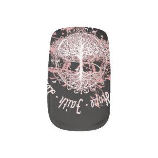 Faith, Hope, Love, Kindness Minx Nail Art