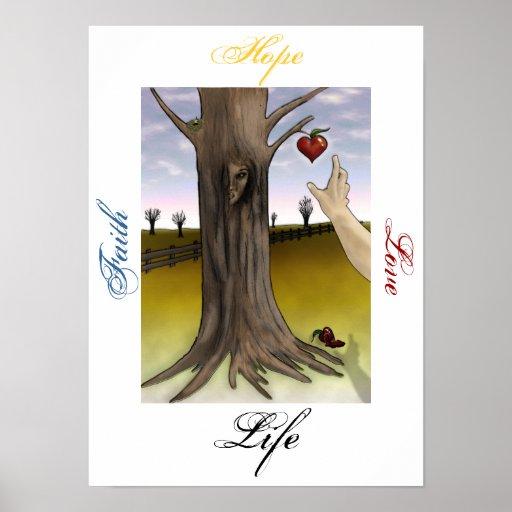 Faith, Hope, Love, Life Abuse Survivor Poster