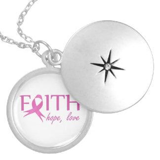 Faith,hope, love locket necklace