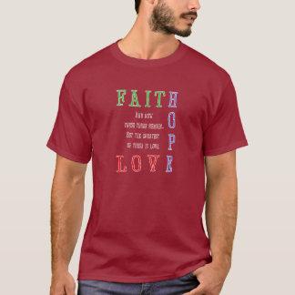 Faith, Hope, Love Men's  Dark Shirt