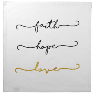 Faith Hope Love Napkin