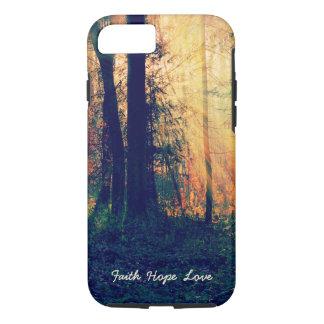 Faith Hope Love Nature Forest Sunlight iPhone Case