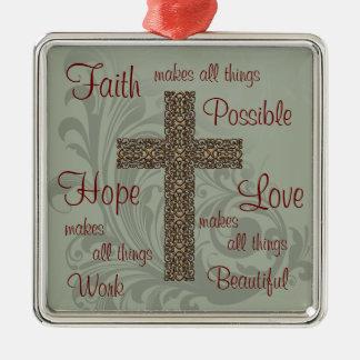 Faith Hope & Love Ornament