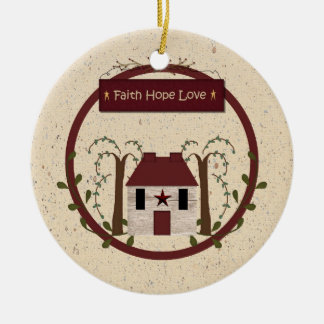 Faith Hope Love Ornament