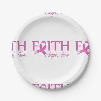 Faith,hope, love paper plate