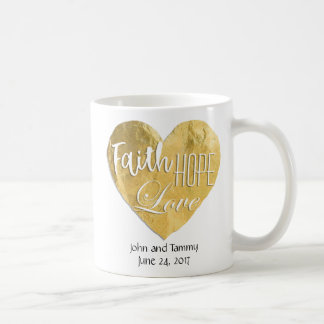 Faith Hope Love Personalized Wedding 11 oz. Coffee Mug