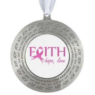 Faith,hope, love pewter ornament