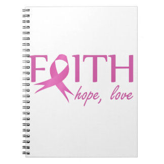 Faith,hope, love spiral notebook