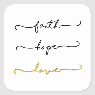 Faith Hope Love Square Sticker
