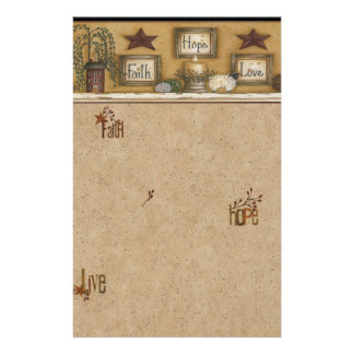 Faith Hope Love Stationary Stationery