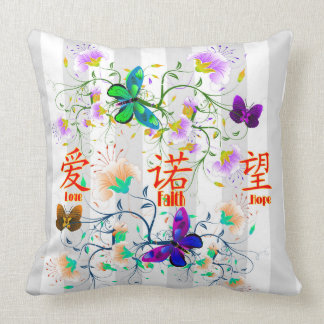 Faith, Hope, Love Throw Pillow