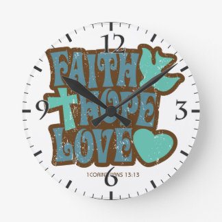 faith hope love wall clocks
