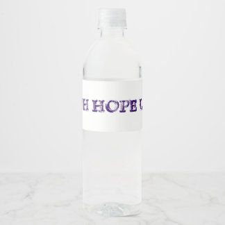 Faith Hope Love Water Bottle Label