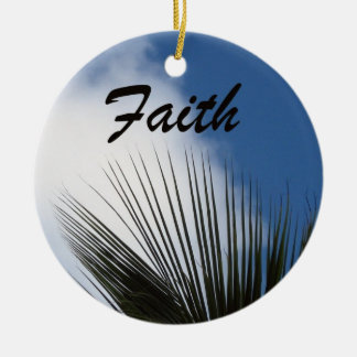 Faith - Hope Round Ceramic Ornament