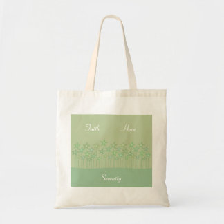 Faith Hope Serenity flower bag