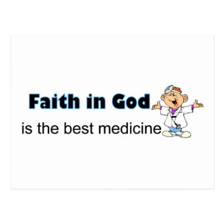 Faith in God is the best medicine with doctor Postcard