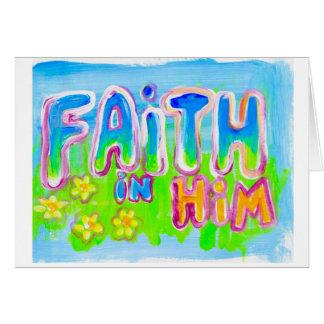 Faith in HIM Jumbo 5x7 blank greeting card