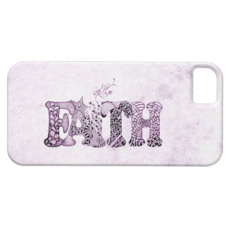 Faith in purple textured letters iPhone 5 case