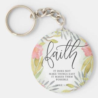 Faith Inspirational Gift Basic Round Button Keychain
