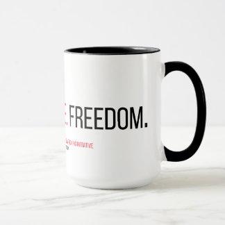 Faith. Justice. Freedom. 15 oz. Mug