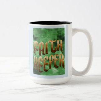 Faith Keeper - 15 Ounce Two Tone Mug
