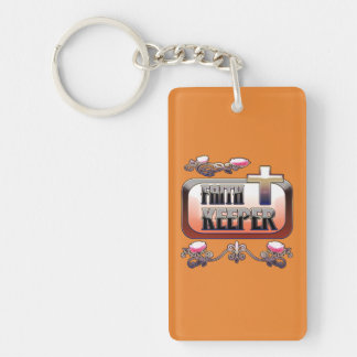 Faith Keeper Christian Rectangle Key Chain