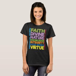 Faith Knowledge Integrity Good Works Virtue T-Shir T-Shirt