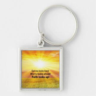 Faith Looks Up Keychain