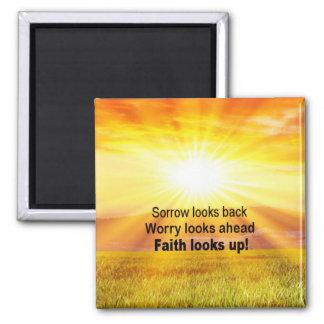 Faith looks up! magnet