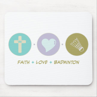 Faith Love Badminton Mouse Pad
