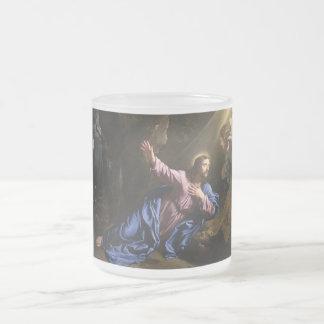 Faith Love Cross Prayer Christianity Peace Destiny Frosted Glass Mug
