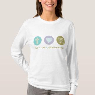 Faith Love Cross-stitching T-Shirt