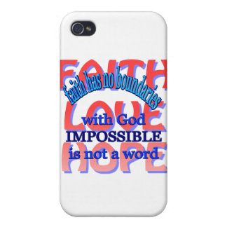 Faith Love Hope iPhone 4 Covers